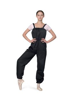 Unitard with sauna effect is made of 100% polyether specially for practice and aerobics.