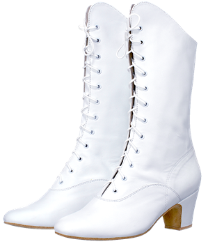 Women's leather boots for folk character dance
