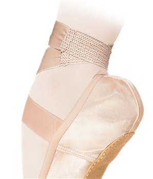 Satin ribbon with an elastic insert – that is a real rescue for your feet! Forget about excessive strain of muscles!