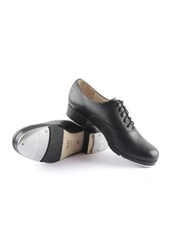 Classic leather upper tap shoe with leather outsole and 2,5 solid heel.