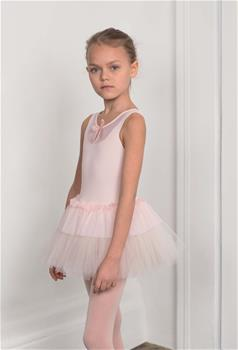 DAD-1707M Leotard with mesh tulle skirt