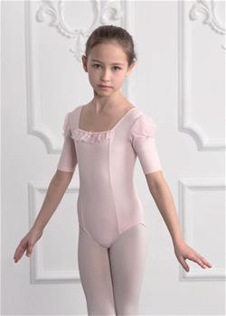 DAD-1710M Elbow sleeve leotard with frill front