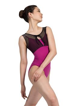 Gorgeous leotard with a mesh detail over it