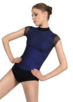 Amazing leotard with a mesh layer