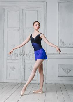 Elegant leotard made of polyamide micro
