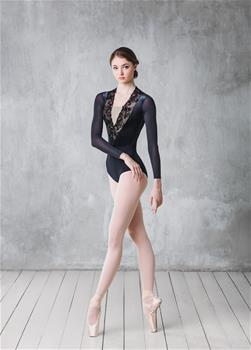 Luxury velvet leotard with plunge V-neck
