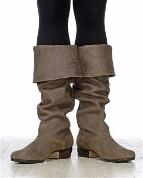 Stylish pair of leather boots will be a perfect choice to match an costume.