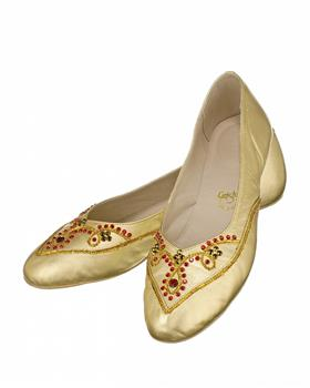 Theatrical shoes decorated with stunning Swarovski crystals.