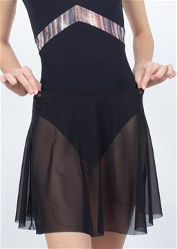 Skirt made of mesh to match leotards from Bolshoi Stars. The dream collection. The thin band is elastic and fits perfectly on the waist or hips.